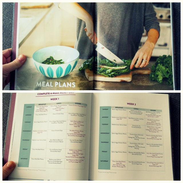 The cookbook also includes meal plans!