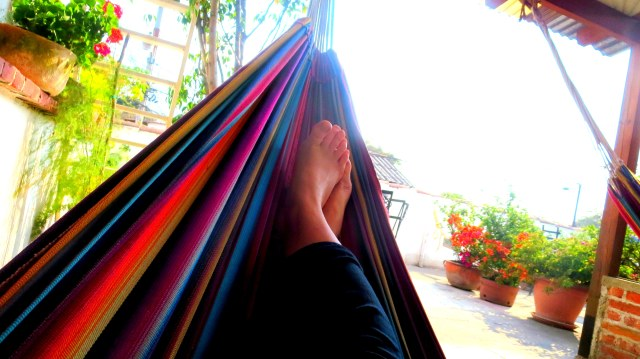 Relaxing at the Yellow House in Antigua, Guatemala