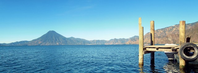 View of the Atitlán Lake, Panajachel, Guatemala