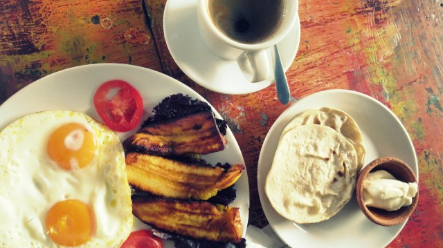 A typical gluten-free breakfast in Guatemala (yes I'm aware corn is Paleo but why not if it doesn't bother you?)