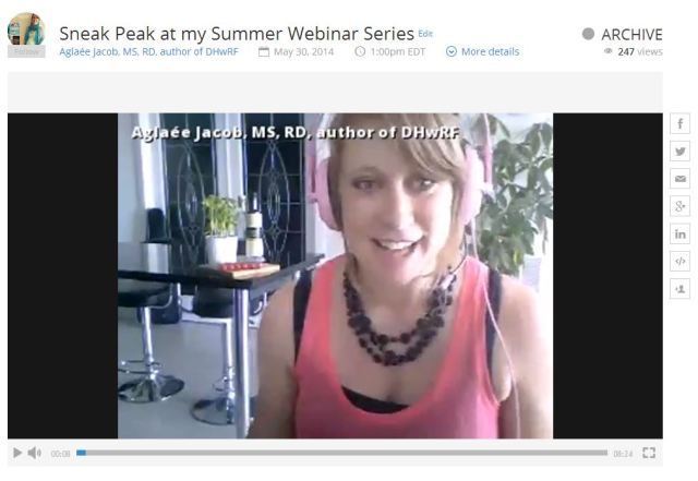 Watch me explain my summer health and nutrition e-courses.