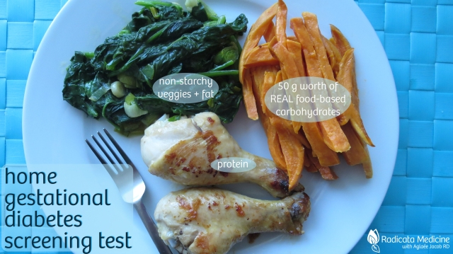 Your test meal should include 50 g of carbohydrates from REAL food, along with protein, healthy fats and vegetables