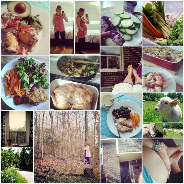 Instagram overview of my 2nd trimester of pregnancy.