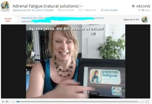 Listen to my webinar on adrenal fatigue