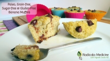 Banana Muffins (Paleo, grain-free, gluten-free, sugar-free & nut-free!)