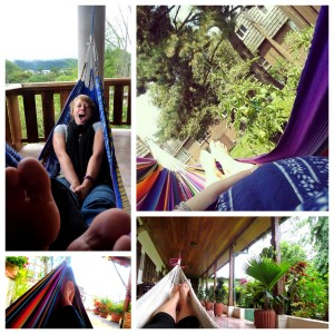 my passion for hammocks! (clockwise: in Mindo, Ecuador, MY OWN HAMMOCK AT HOME, in Antigua, Guatemala, in Copan Ruinas in Honduras)